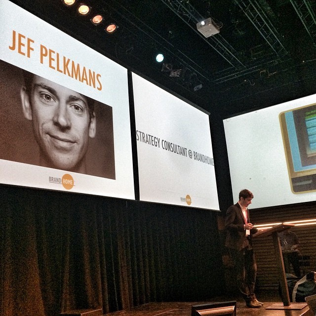 Jef Pelkmans speaks at #SoMeT15EU Amsterdam