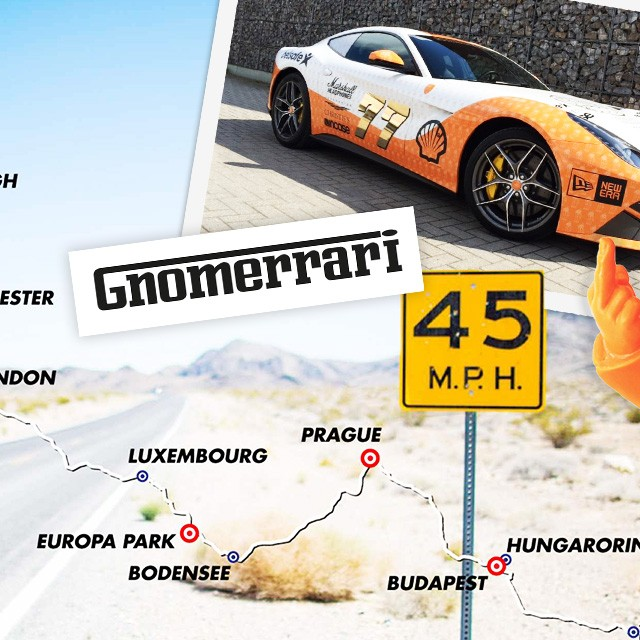 Forget Ferrari: Brandhome drives a Gnomerrari!